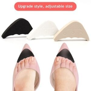 1 Pair Women High Heel Half Forefoot Insert Toe Plug Cushion Pain Relief Protector Big Shoes Toe Front Filler Adjustment
