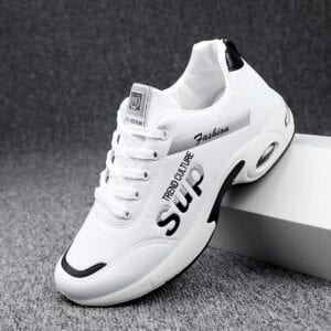 Hot Men's White Sneakers Women's Fashion Vulcanize Shoes Size 36-44 High Quality HIP HOP Shoes Platform Lace-up Running Shoe T09