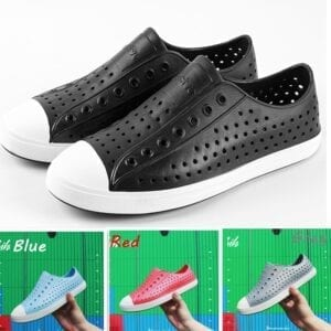 Native Jefferson Family Parent-child Shoes Hollow Breathable Hole Shoes Baotou Wading Beach Shoes Unisex Light Casual Shoes