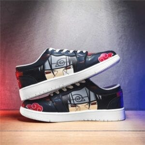COOLVFATBO Anime Naruto Canvas Shoes Akatsuki Itachi Men Vulcanized Shoes Sneakers Cosplay School Outdoor Travel Shoes